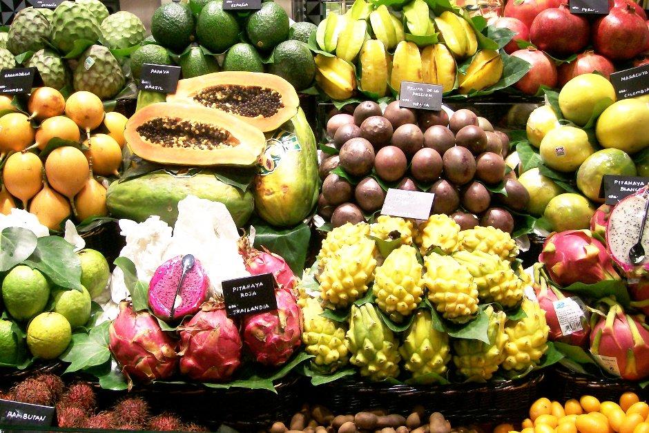 Foto: Früchte in La Boqueria