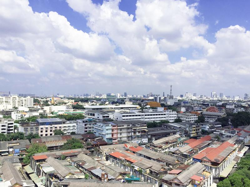 Bangkok über der Stadt