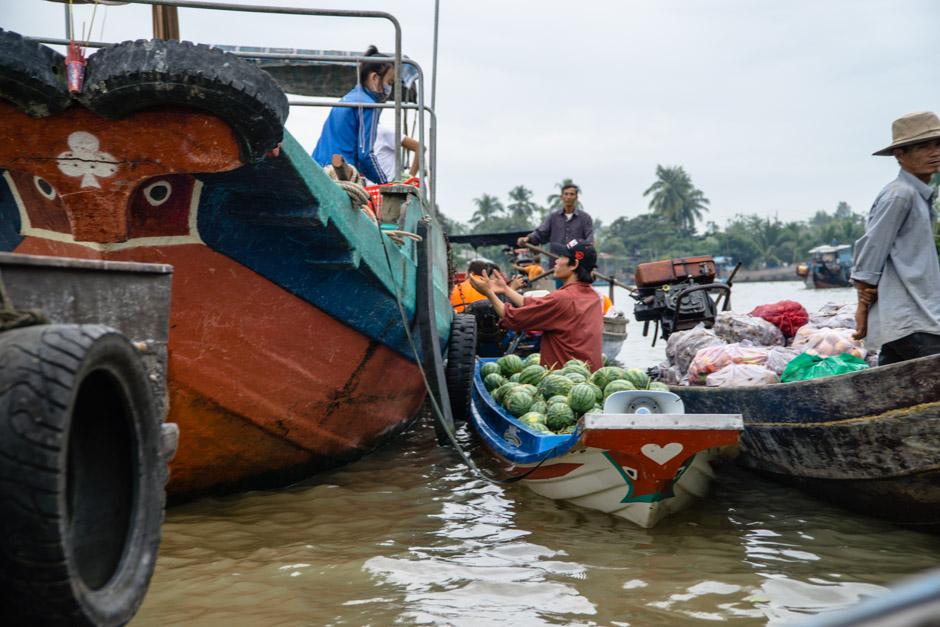Melonenverkauf auf dem Markt