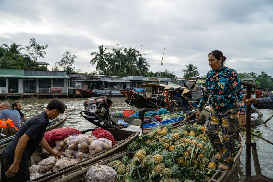 Boot mit Ananas