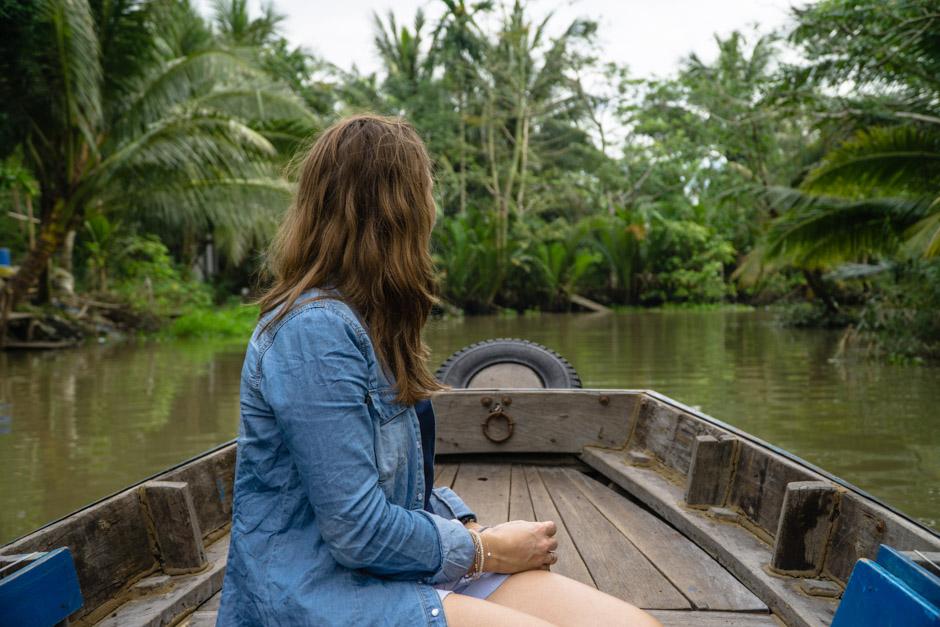 Steffi im Mekongdelta
