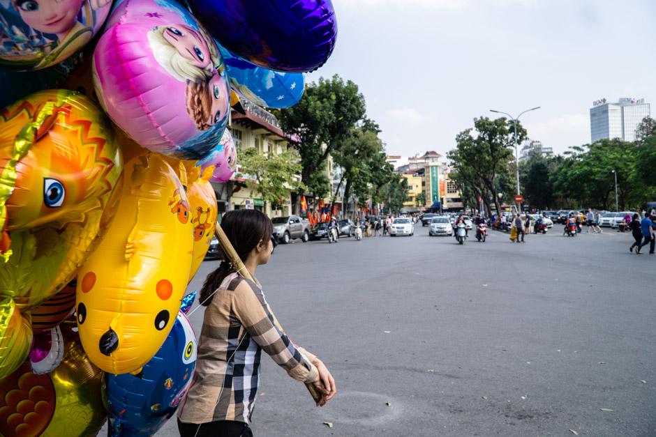 Ballons und Verkehr