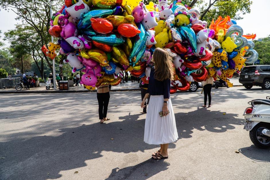 Steffi und Ballons