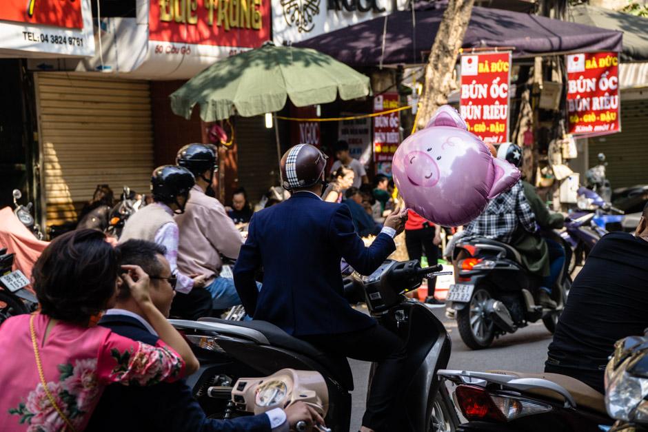 Ballons und Roller