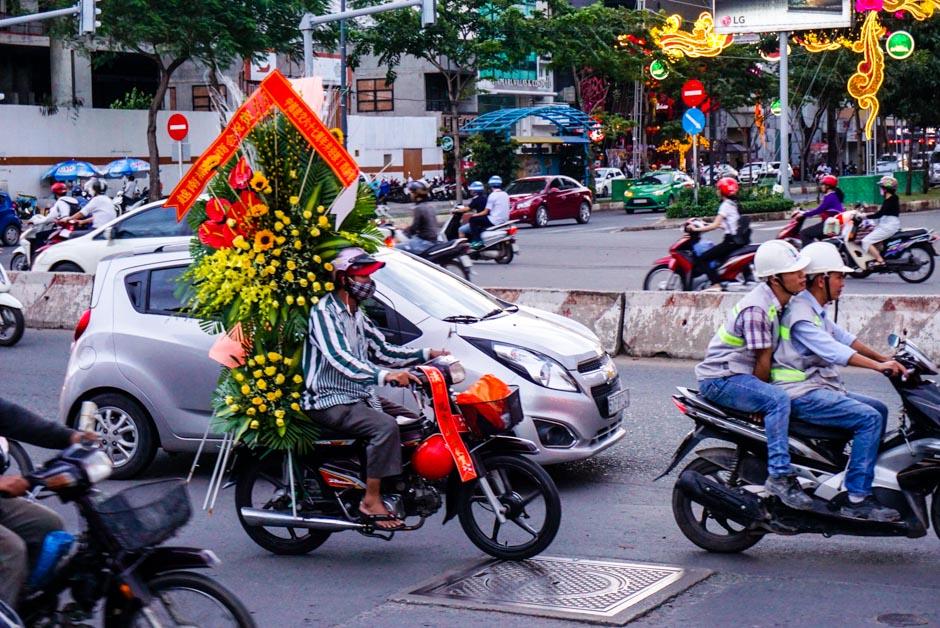Blumen auf dem Bike