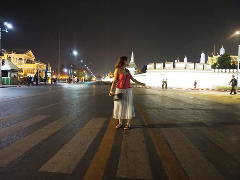 Bangkok mit leeren Straßen