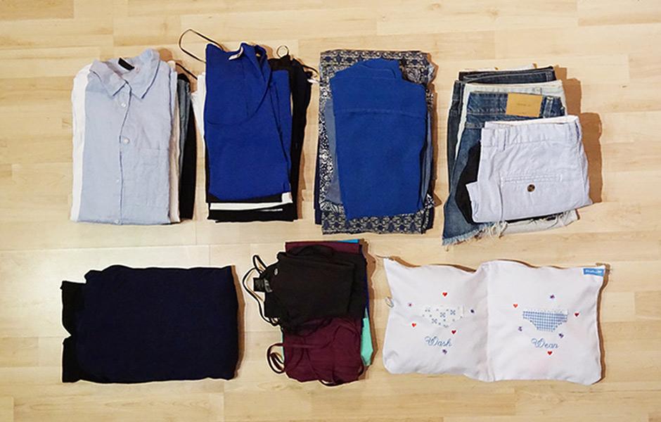 Kleidung fuer Weltreise