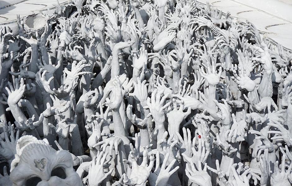 Hände im Weißen Tempel