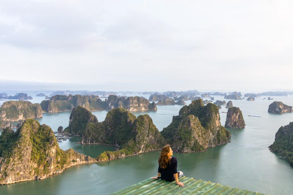 Ausblick auf Halongbay Vietnam