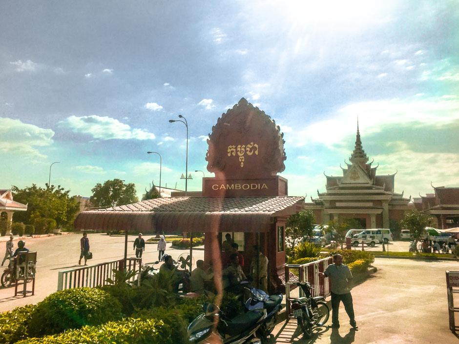 Grenze von Kambodscha