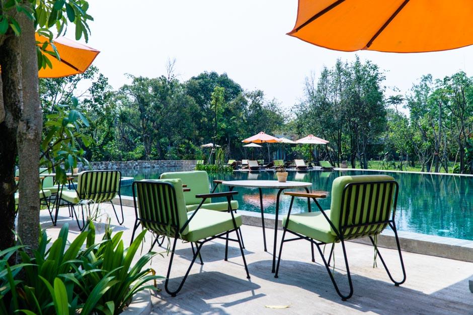 Templation grosser Pool in Siem Reap