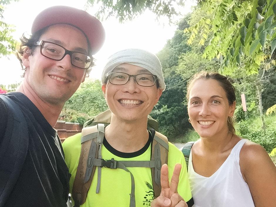 Wandern mit netten Menschen