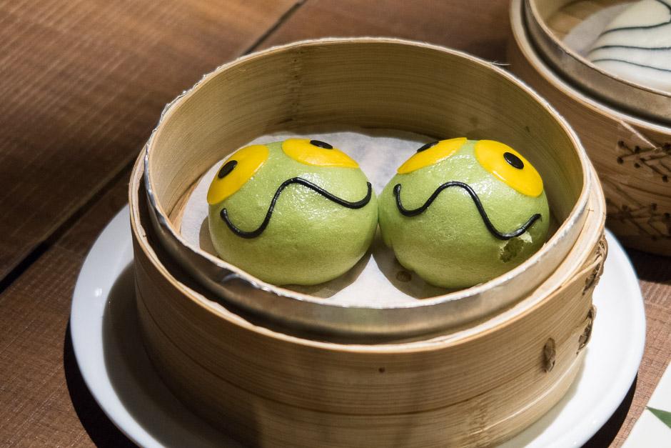 Dumplings mit Gesicht