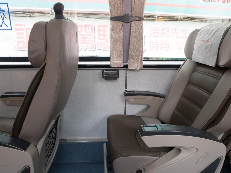 sitze in einem Bus in Taiwan