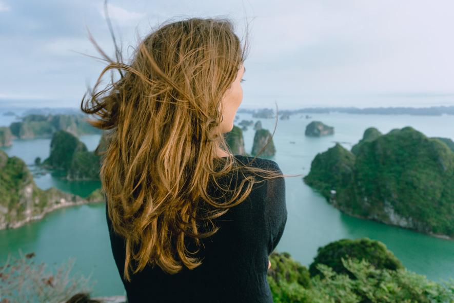 Aussicht auf die Halong Bay