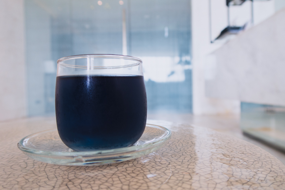 Blauer Tee