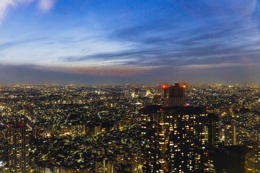 Aussicht vom Government Building in Tokyo