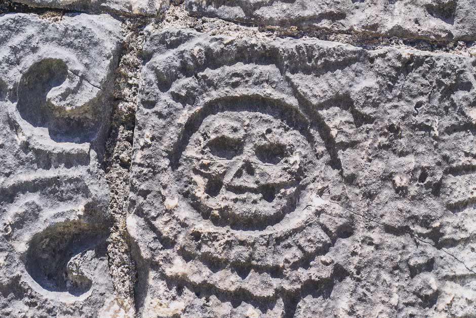 Totenkopf in Chichen Itza