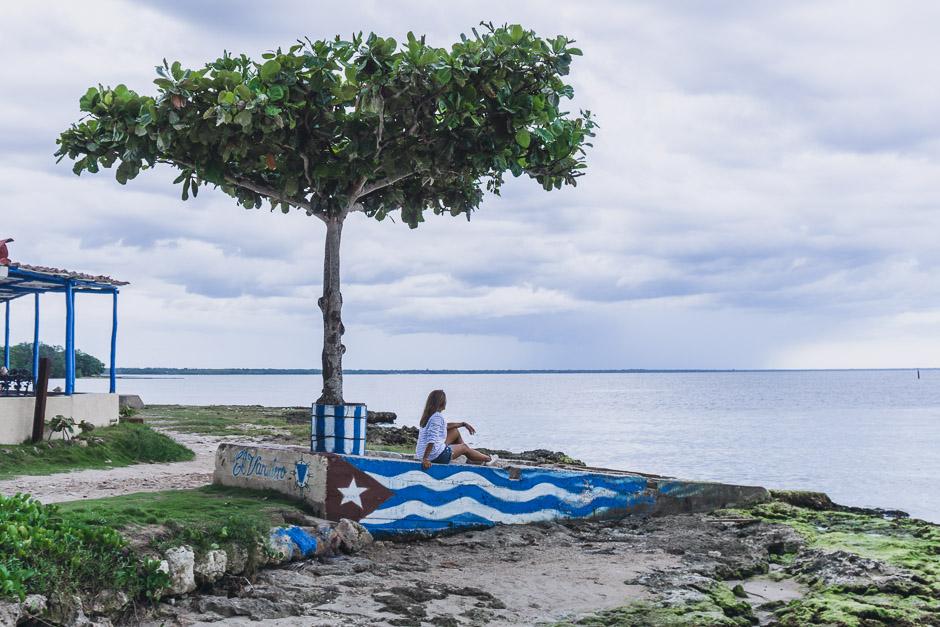 am Wasser sitzen in PlayaLarga