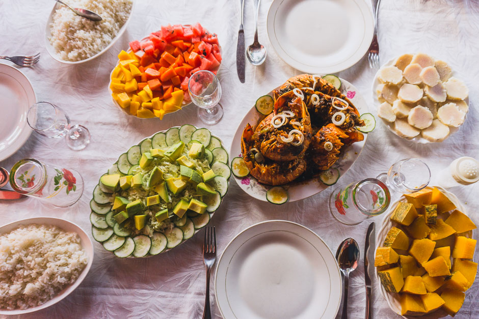 Essen in der Casa