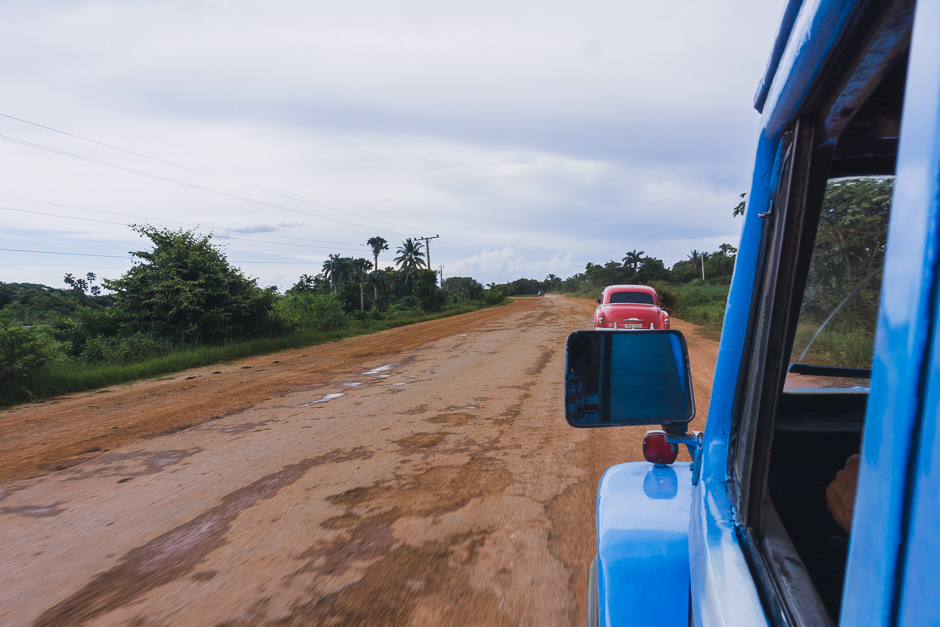 Autofahrt zum Strand Cayo Juitas