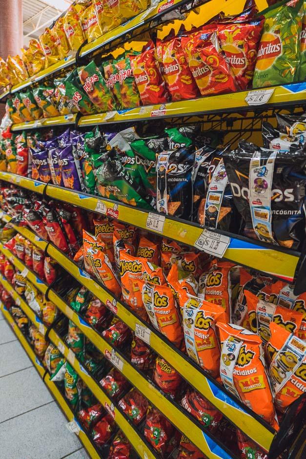 Chips im Supermarkt