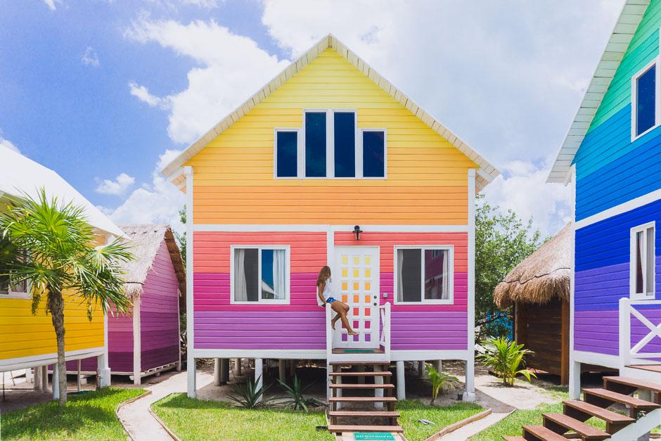 Buntes Haus mit Steffi