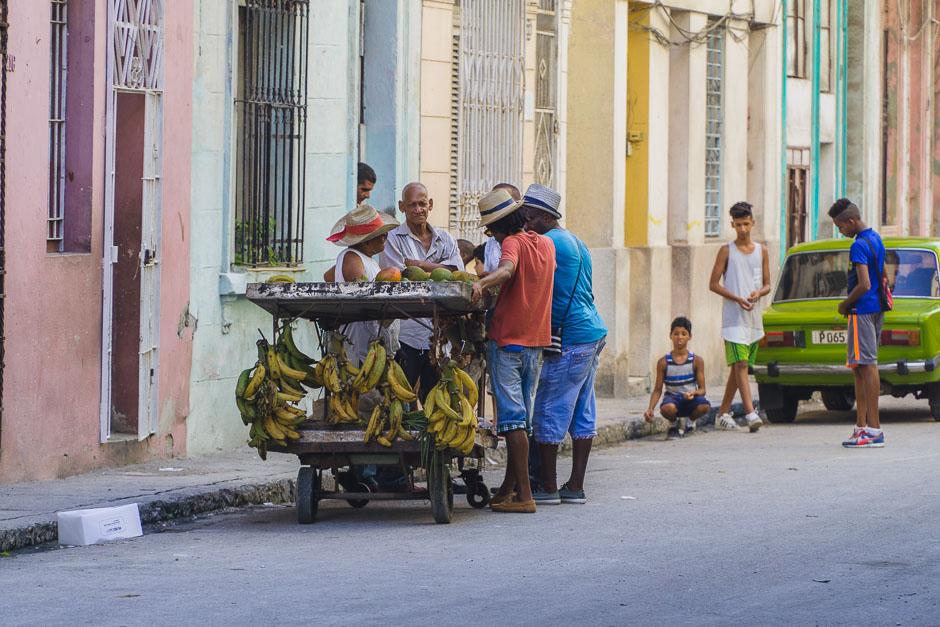 kubanisches Leben in Havanna auf der Straße
