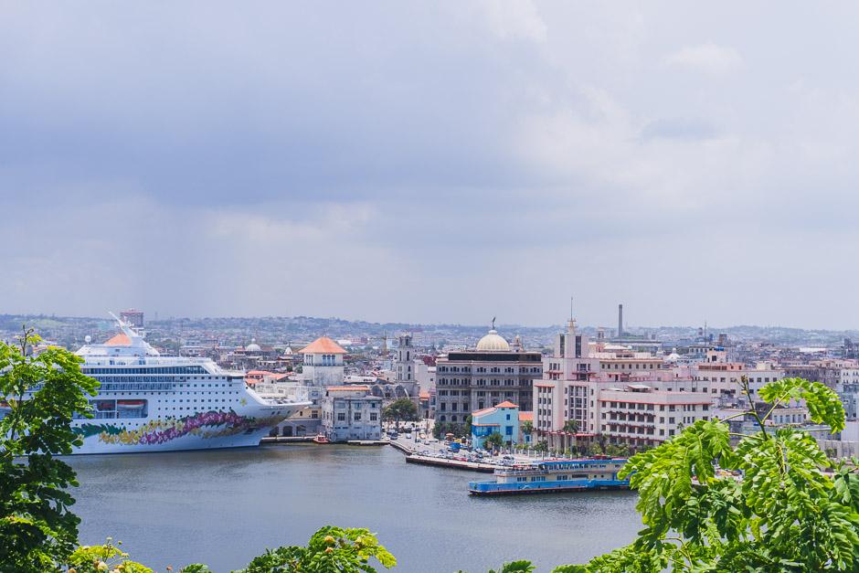 Blick auf Havanna von Casa Blanca aus