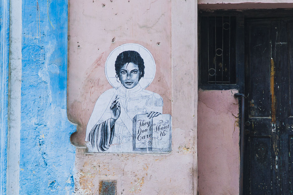 Michael Jackson Graffiti in Havanna