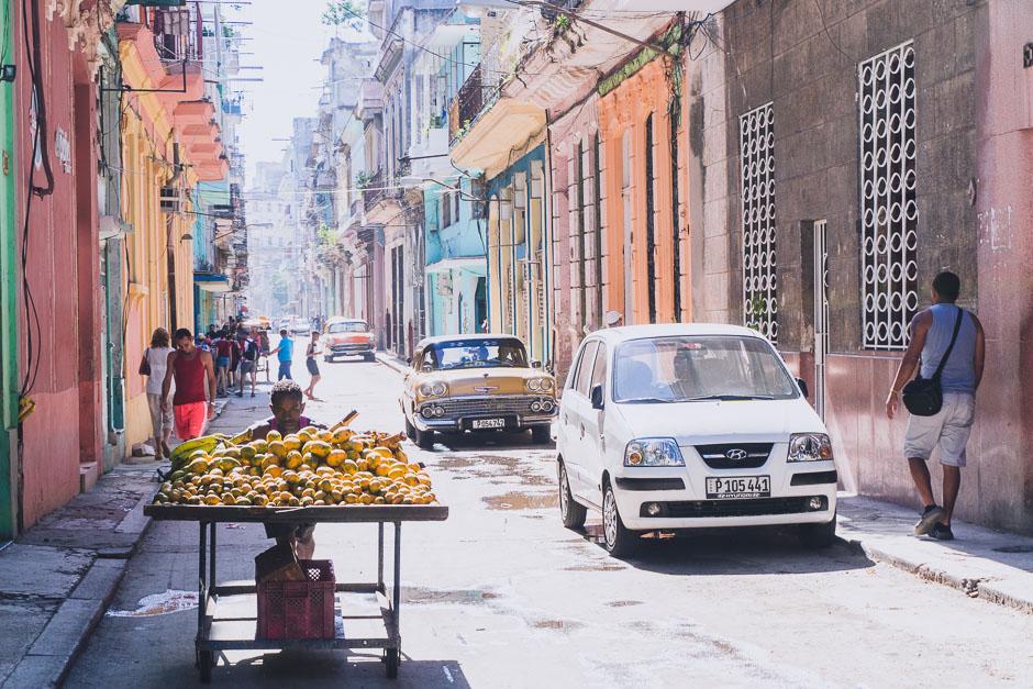 Havanna Früchteverkäufer