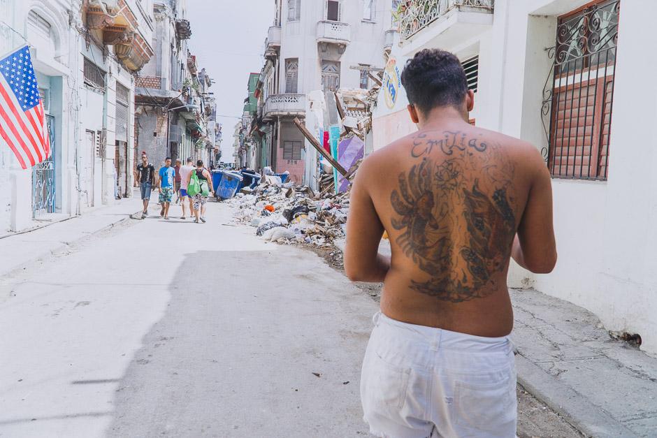 Kubaner in Central Havanna