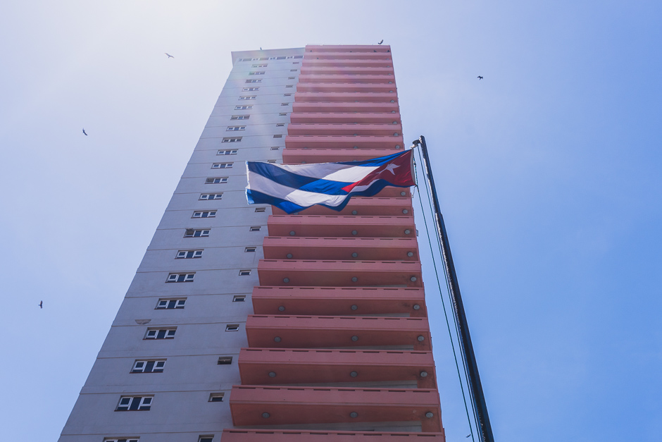 Flagge Kuba in Havanna