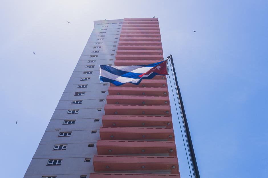 Flagge Kuba in Havanna