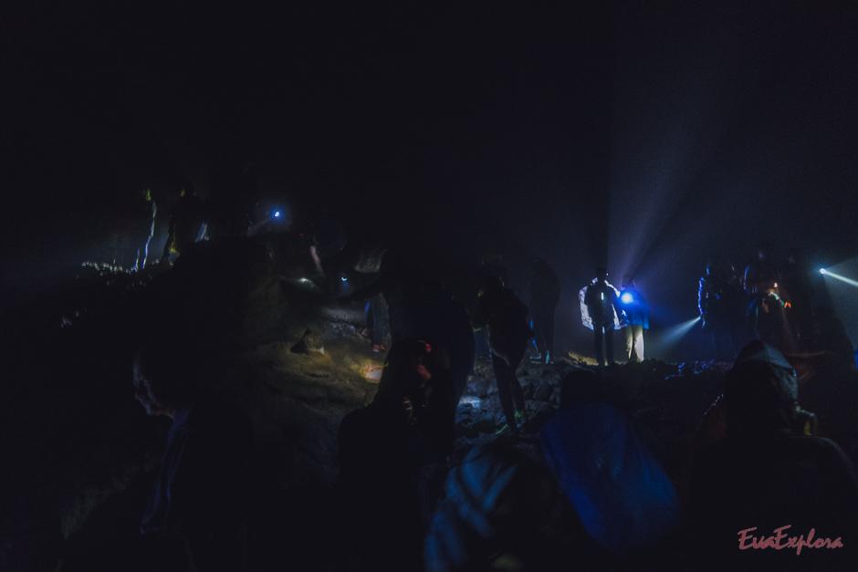 blaue Feuer auf dem Mount Ijen