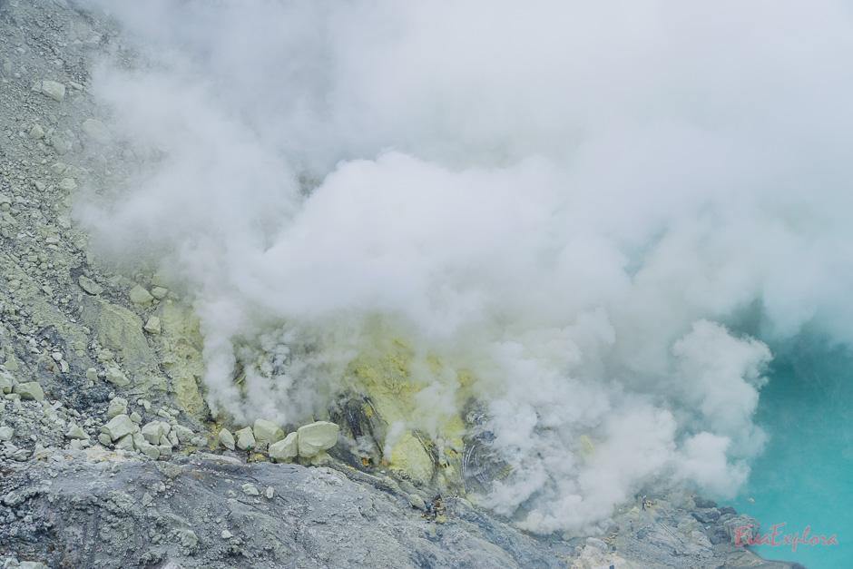 giftige Gase am Vulkansee