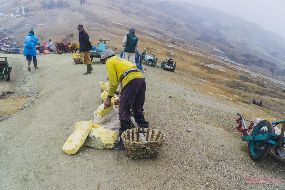 Schwefelmine Java Indonesien