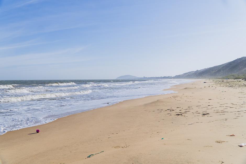 Meer auf dem Weg zu den Dünen