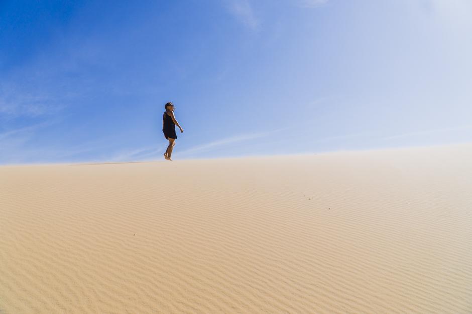 Steffi auf den Dünen