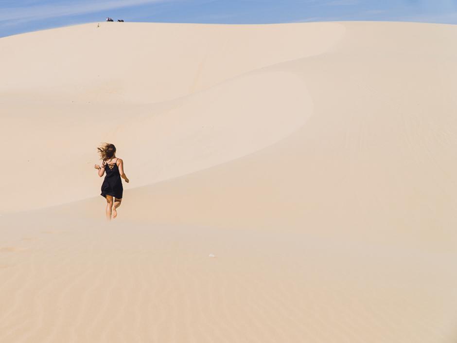 weisse Sandduene in Vietnam