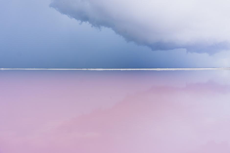 Pinker See Mexiko