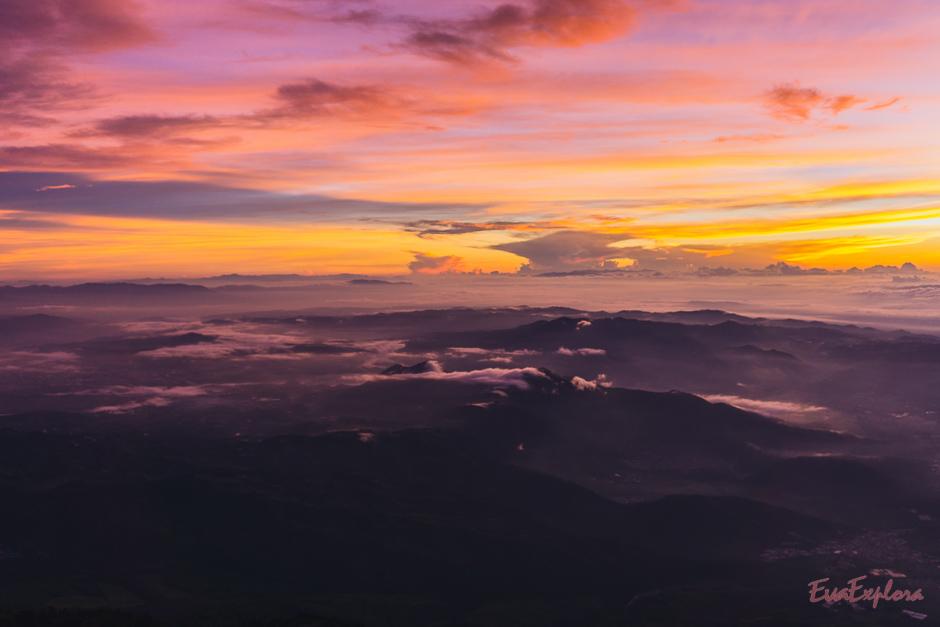 Rosaroter Sonnenaufgang