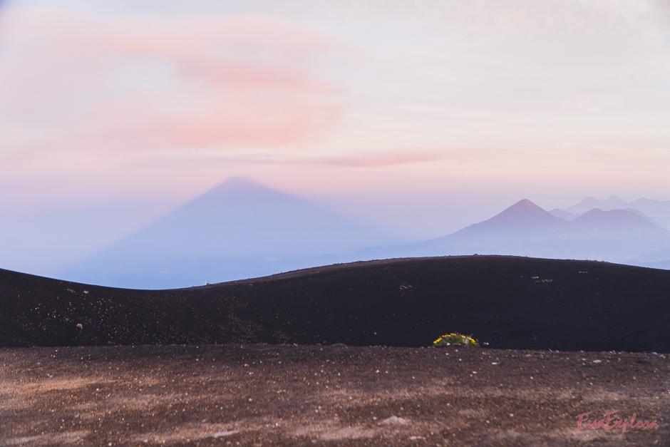 Der Blick über den Kraterberg