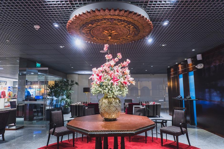 Casa Andina Premium Miraflores Blumen in der Lobby