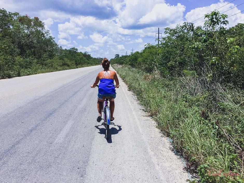 Steffi auf dem Fahrrad