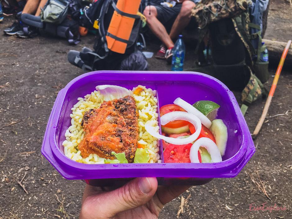 Essen auf dem Weg