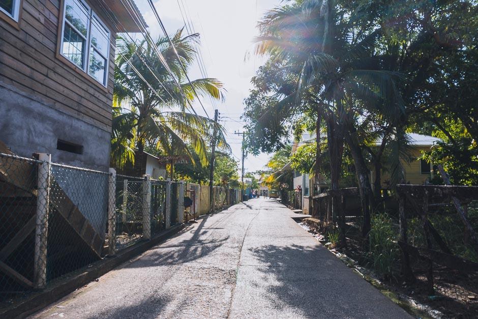 Hauptstrasse auf Utila