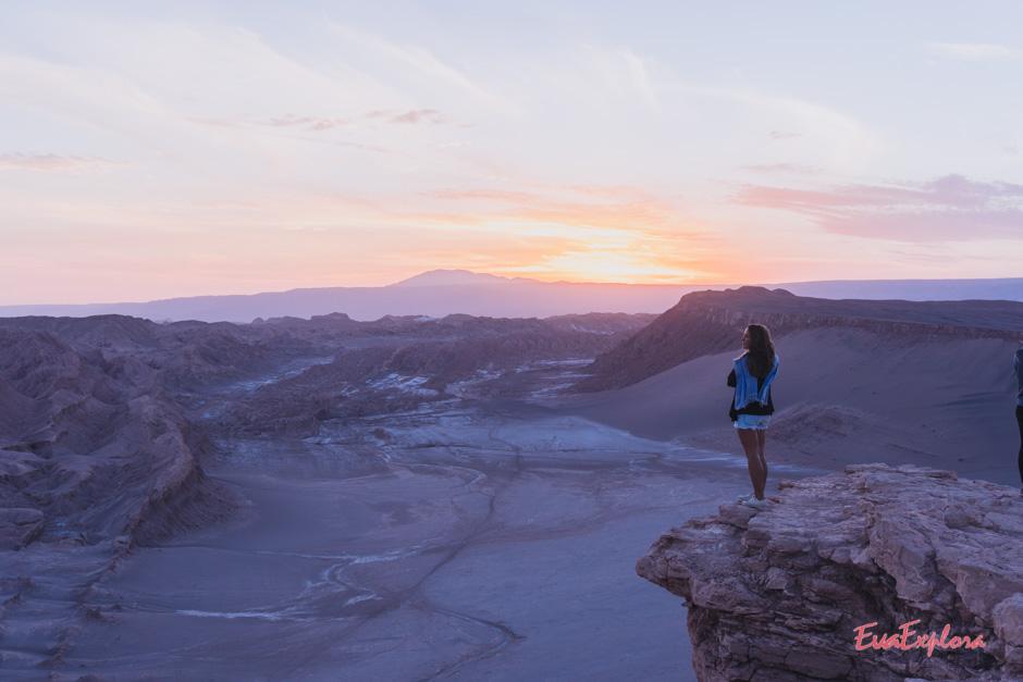 Steffi beim Sonnenuntergang im Moon Valley