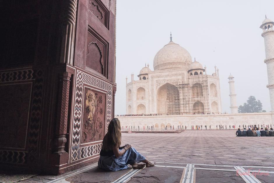 Momente einer Weltereise am TajMahal in Indien