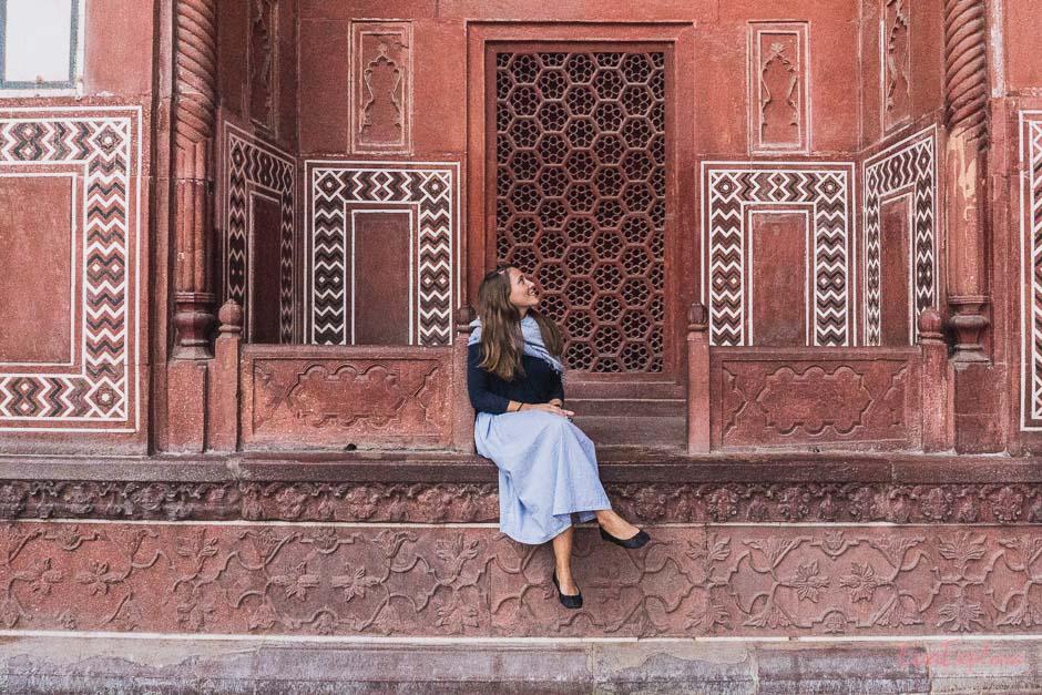 Steffi am Taj Mahal